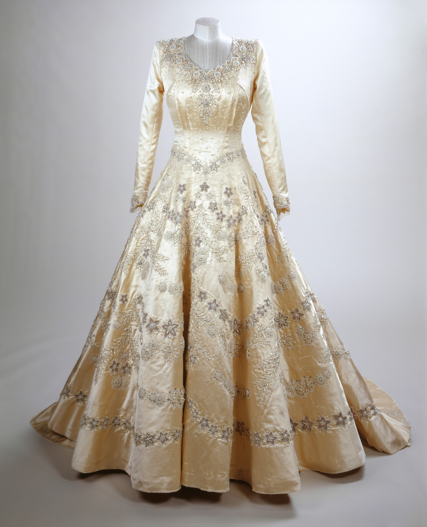The Queens Wedding and Coronation dresses
