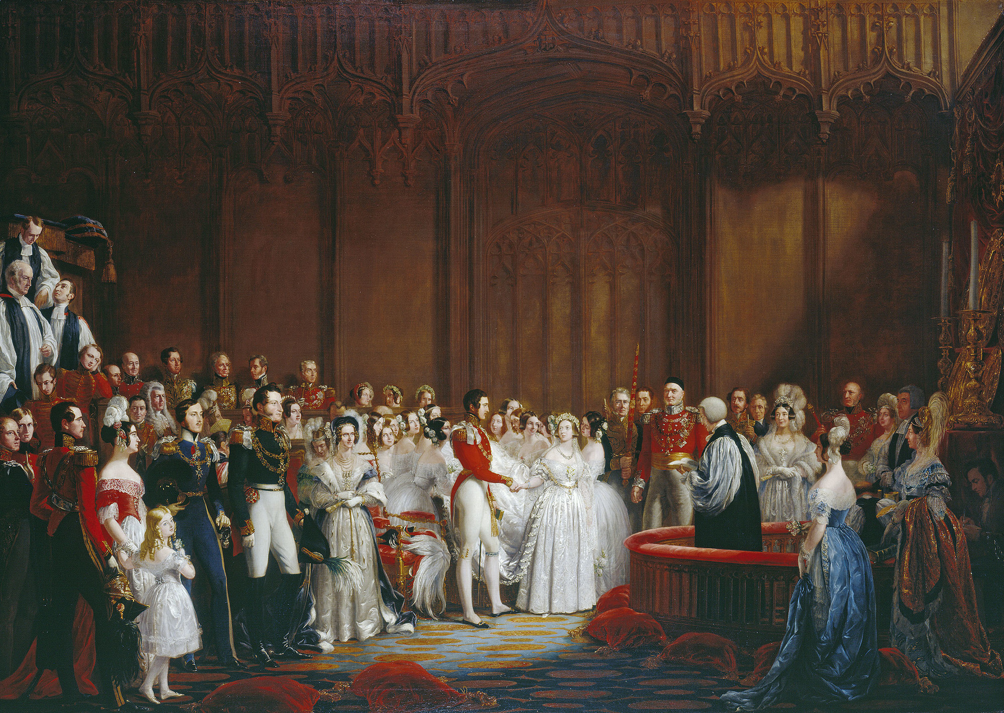 Sir George Hayter, The Marriage of Queen Victoria, ca. 1840-42, Royal Collection Trust, London, UK. queen victoria weddings