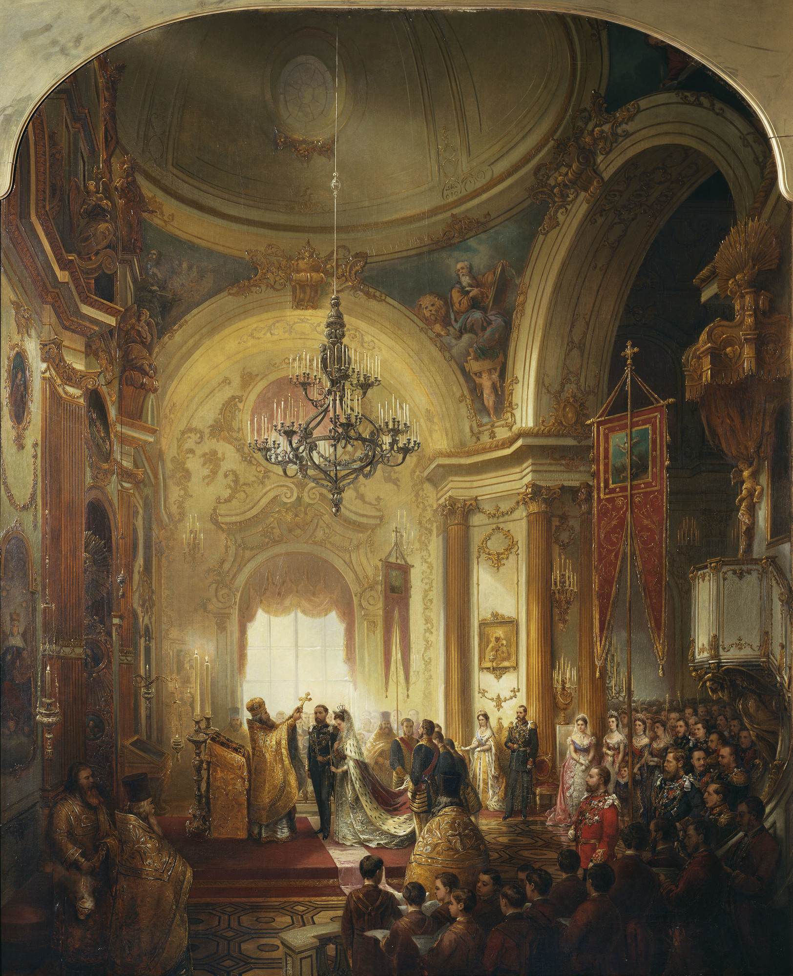 Nicholas Chevalier, The Marriage of Prince Alfred, Duke of Edinburgh, ca. 1874-75, Royal Collection Trust, London, UK. queen victoria weddings