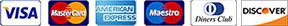 Accepted payment methods: Visa Debit, Visa Credit, MasterCard Debit, MasterCard Credit, American Express & Maestro