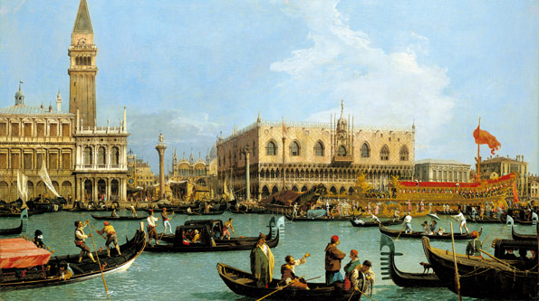 Canaletto, The Bacino di S.Marco on Ascension Day, 1733-34