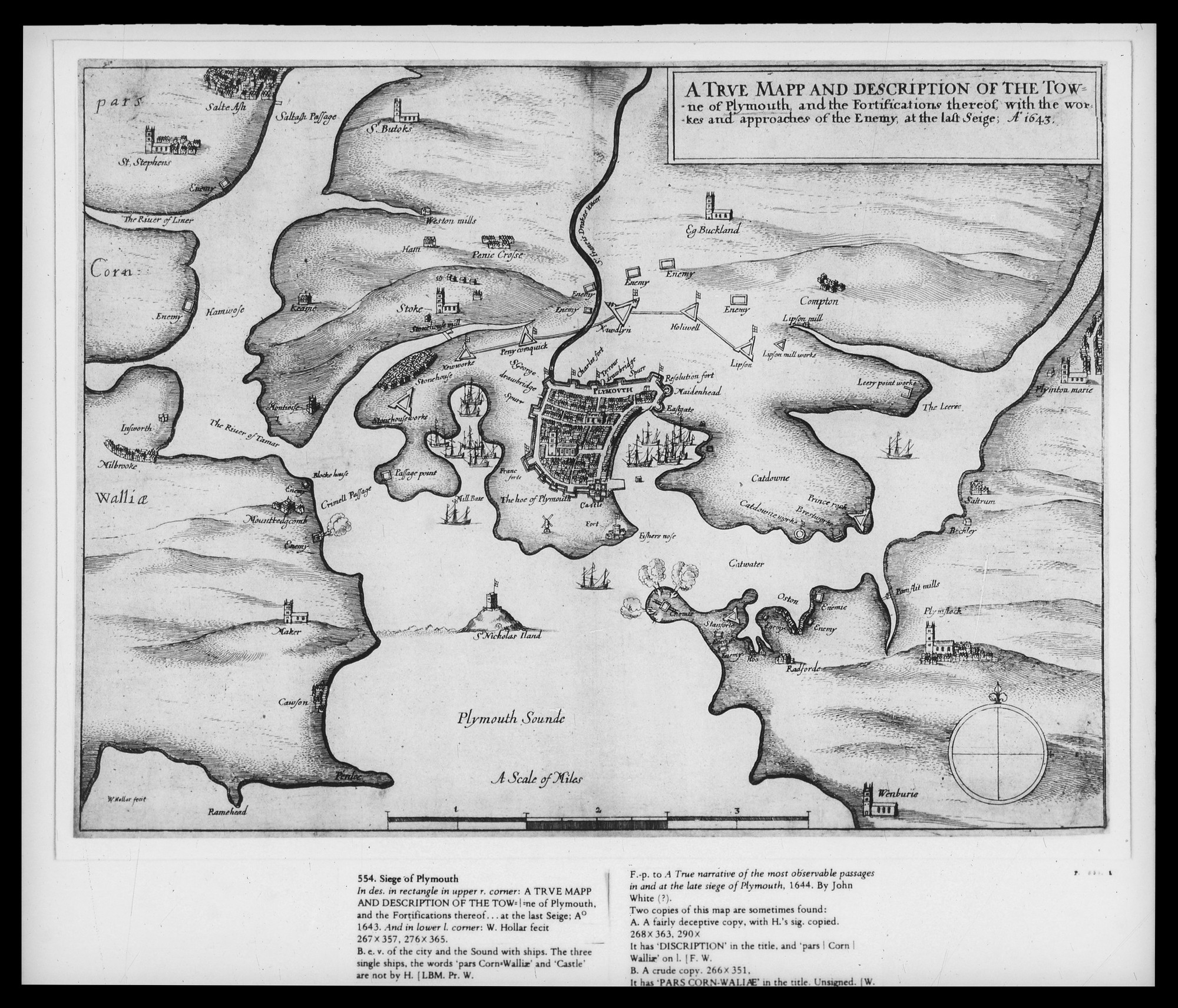 Wenceslaus Hollar (1607-77) - Siege of Plymouth