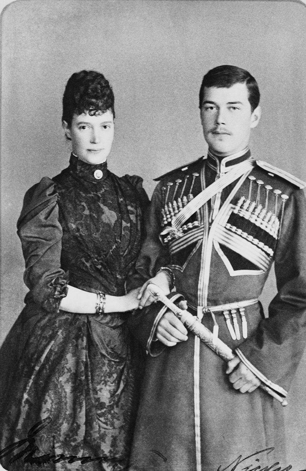 Maria Feodorovna, Empress of Russia and Nicholas II, Emperor of Russia, when Tsesarevich c.1889Your share link is...