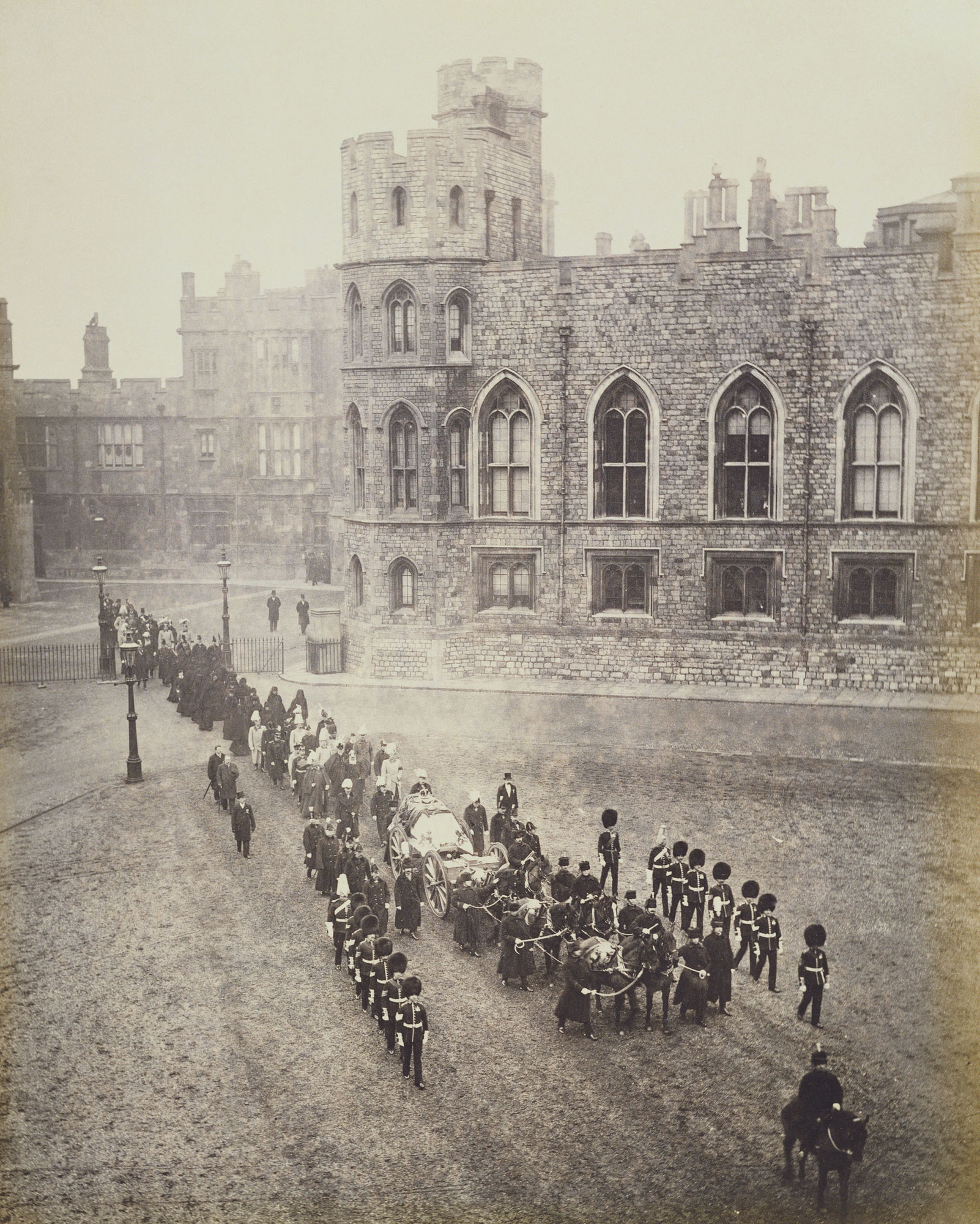Watch Funeral of Queen Victoria: The Procession passing