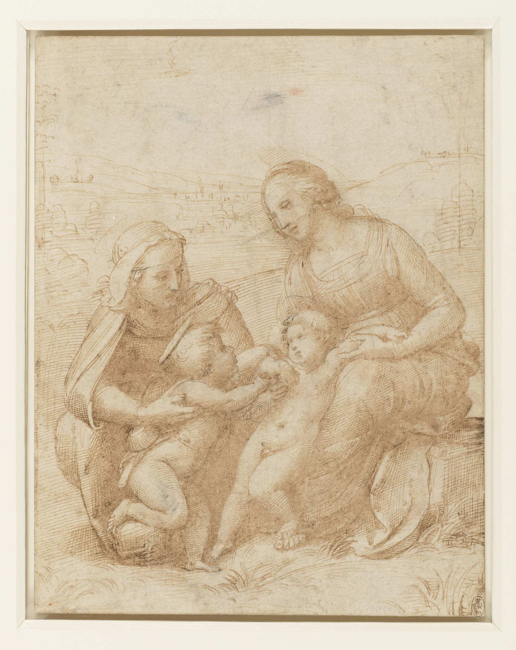 michelangelo drawing madonna and child 1525 - HD1787×2250