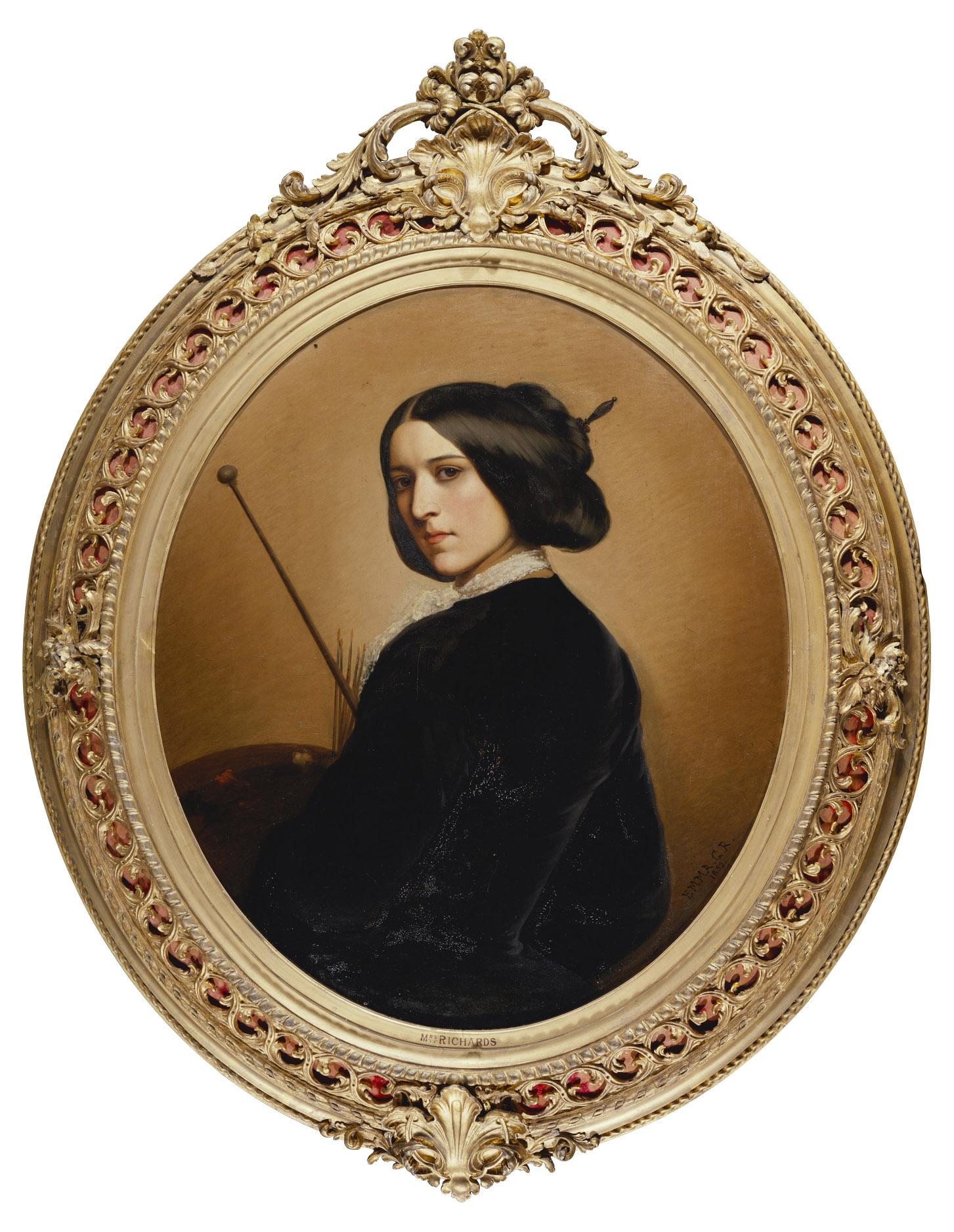 Red Leaf Loans >> J. & W. Vokins : London - Frame for RCIN 408920, Richards, Portrait of the artist
