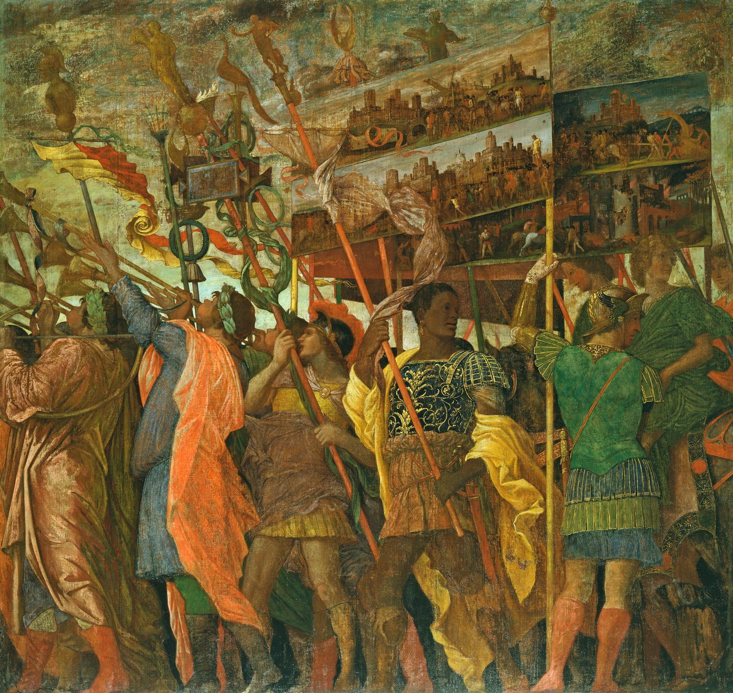 Image result for Andrea Mantegna The Triumph of Caesar: The Trumpeters, c. 1485-1506.