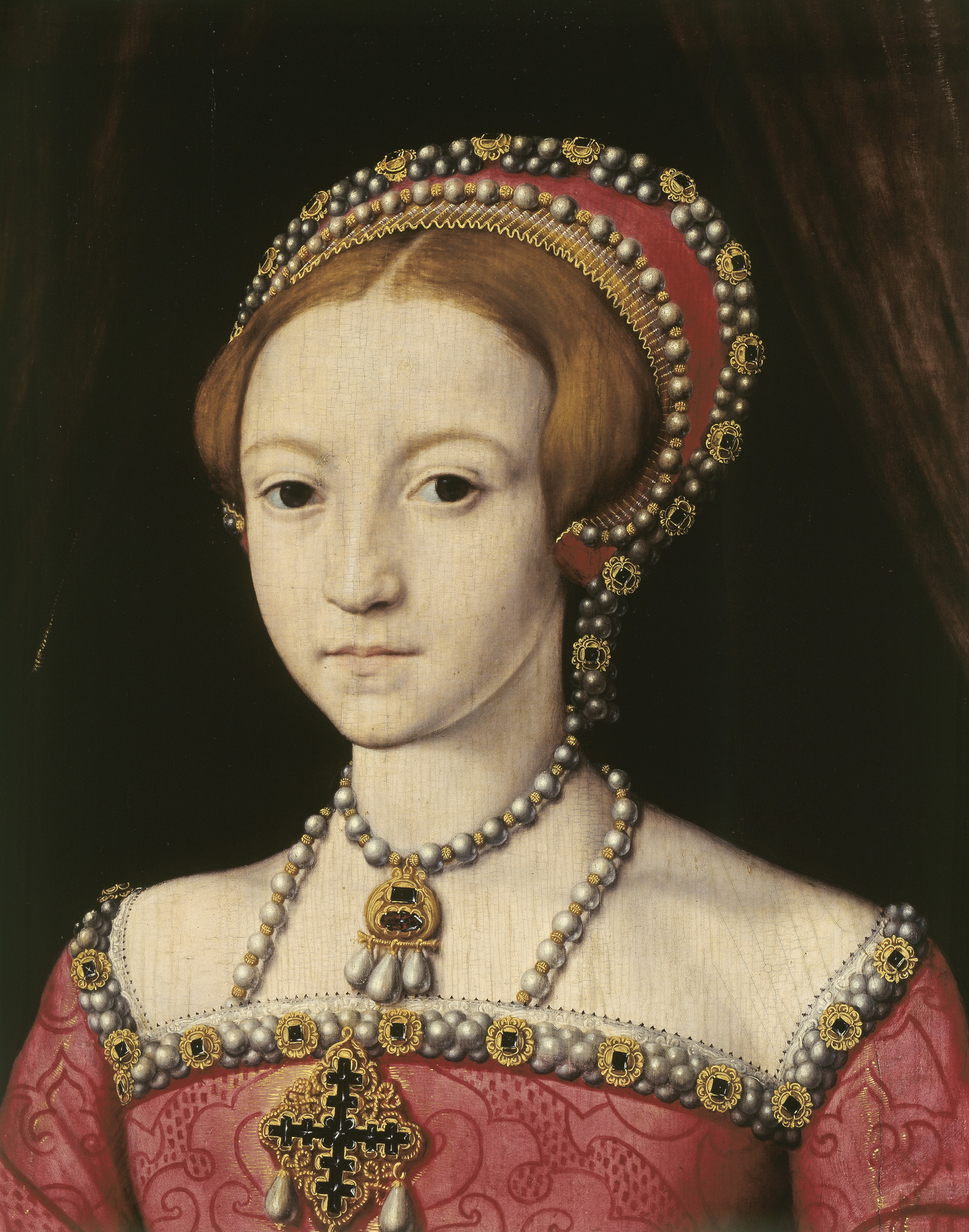 William Scrots (active 1537-53) - Elizabeth I when a Princess