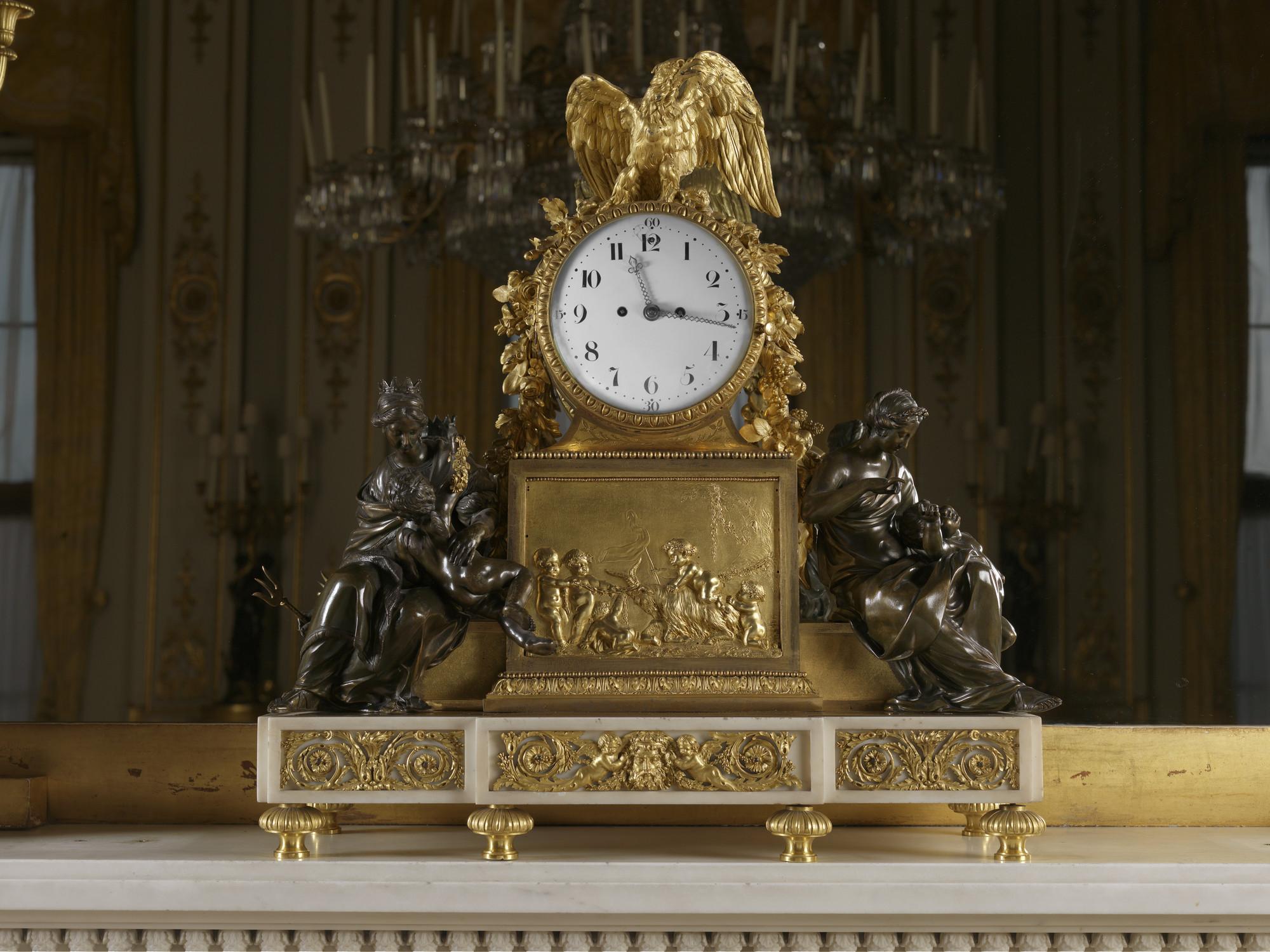 Jean Antoine L 233 Pine 1720 1814 Mantel Clock