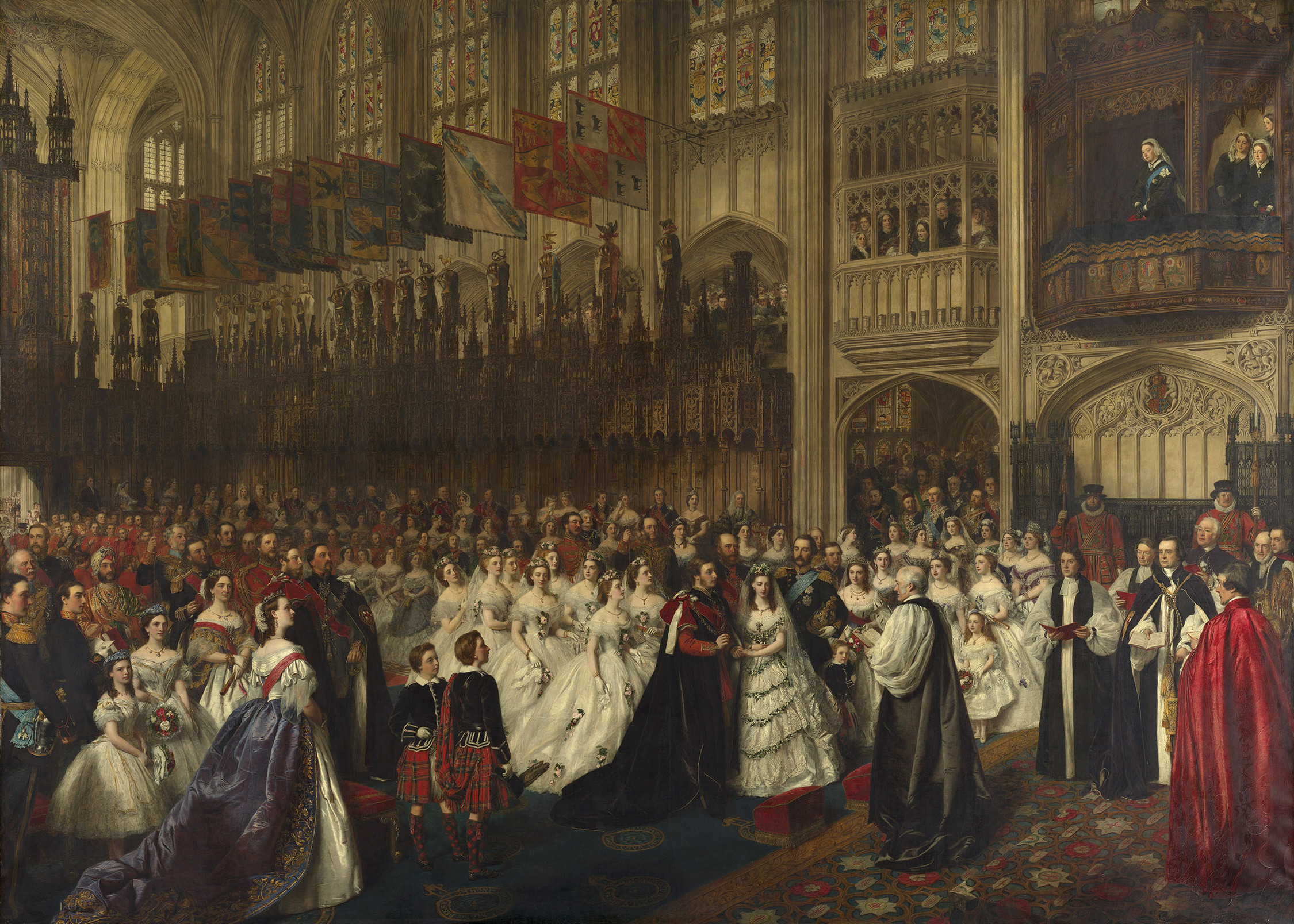 William Powell Frith, The Marriage of the Prince of Wales with Princess Alexandra of Denmark, ca. 1863-65, Royal Collection Trust, London, UK. queen victoria weddings