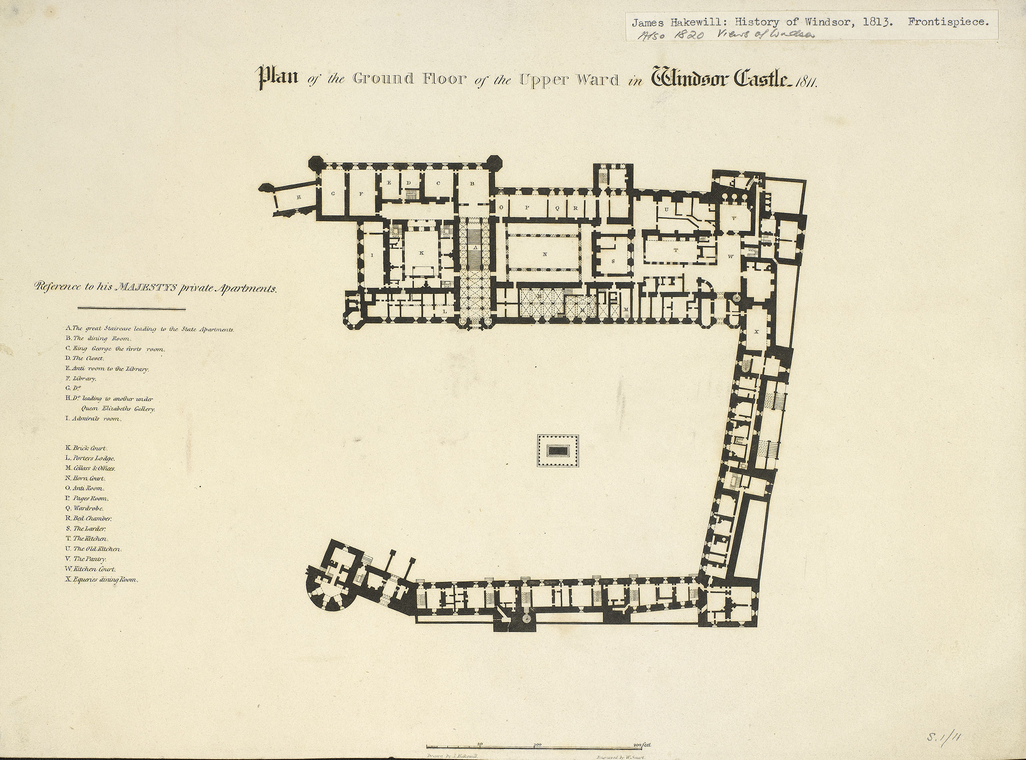 James Hakewill (1778-1843) - Plan of