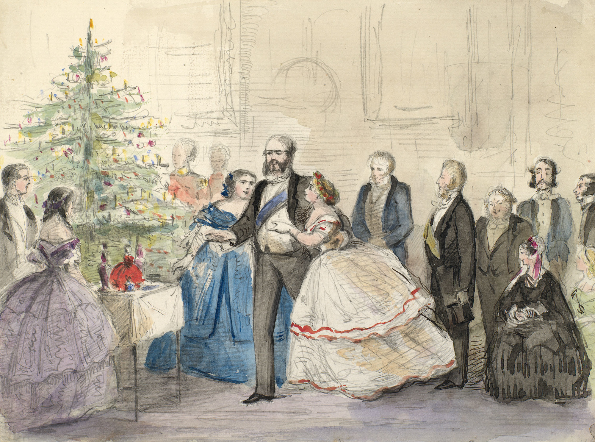 The Cambridge Family Round The Christmas Tree
