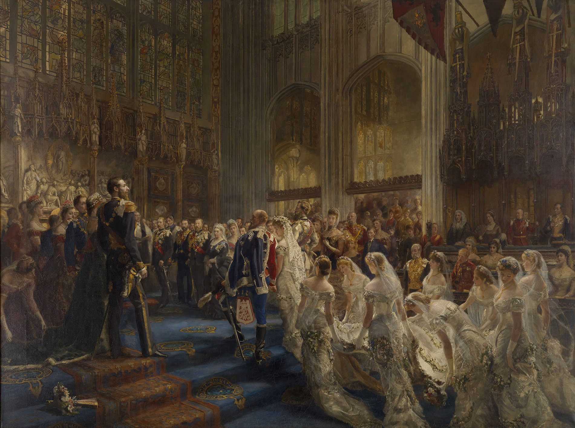 Sydney Prior Hall, The Marriage of the Duke of Connaught, ca. 1881, Royal Collection Trust, London, UK. queen victoria weddings