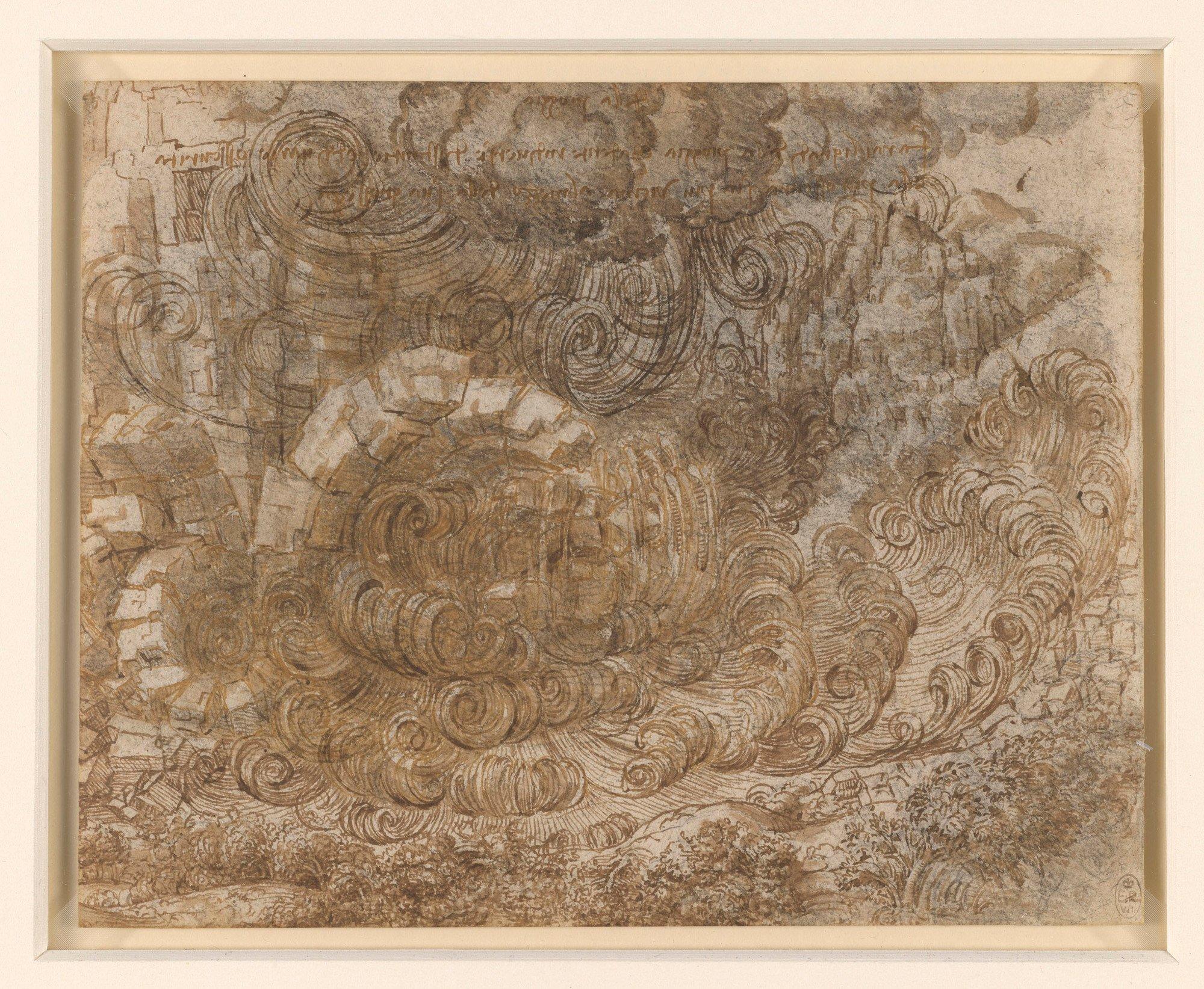Leonardo da Vinci (Vinci 1452-Amboise 1519) - A deluge