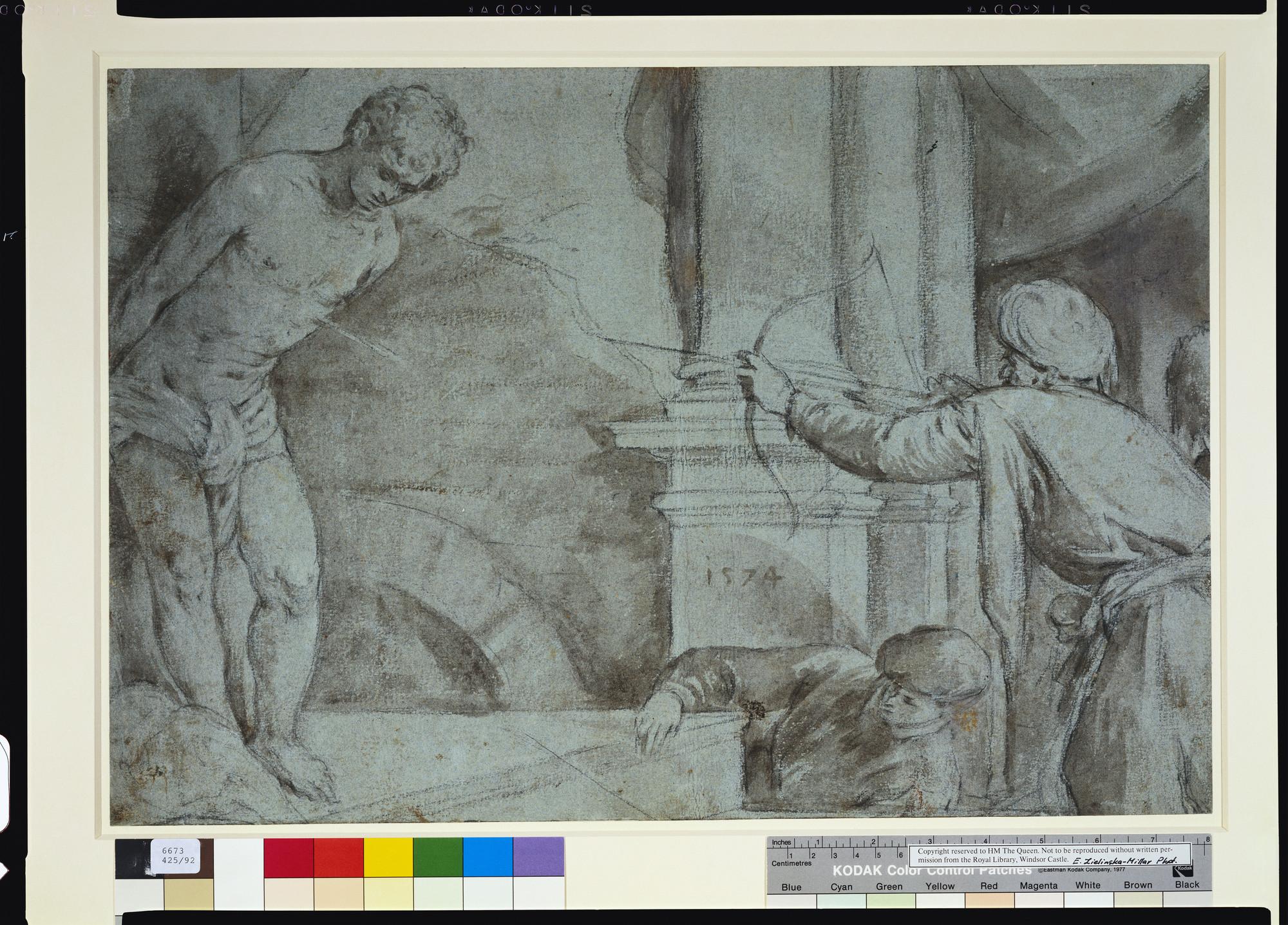 Il santo Sebastian Cornelis van Haarlem Sankt FRECCIA martiri H a3 0554