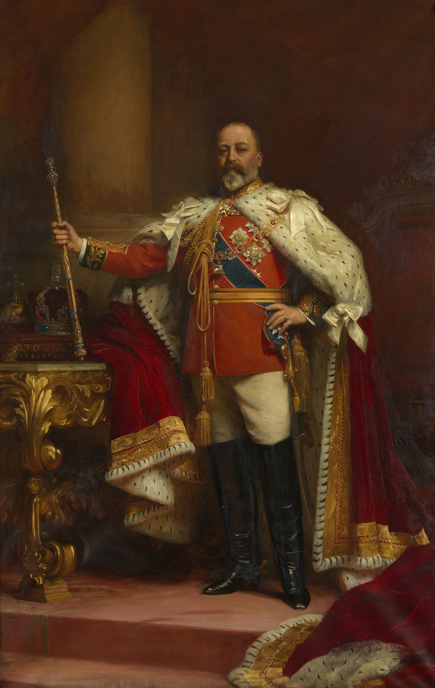 TOO !! KING EDWARD VII /& QUEEN ALEXANDRA PRINT NOW AVAILABLE AS CANVAS PRINT