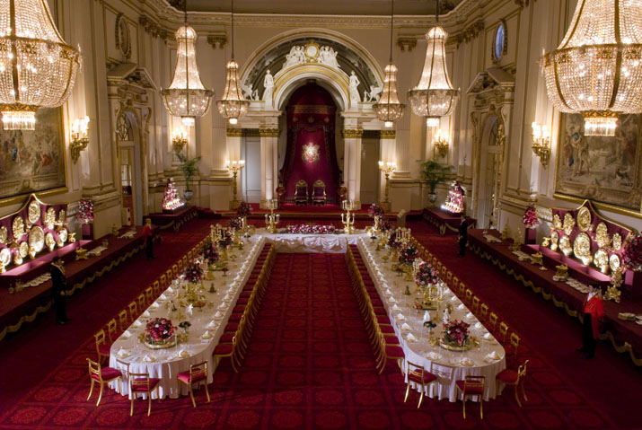 Ballroom at Buckingham Palace