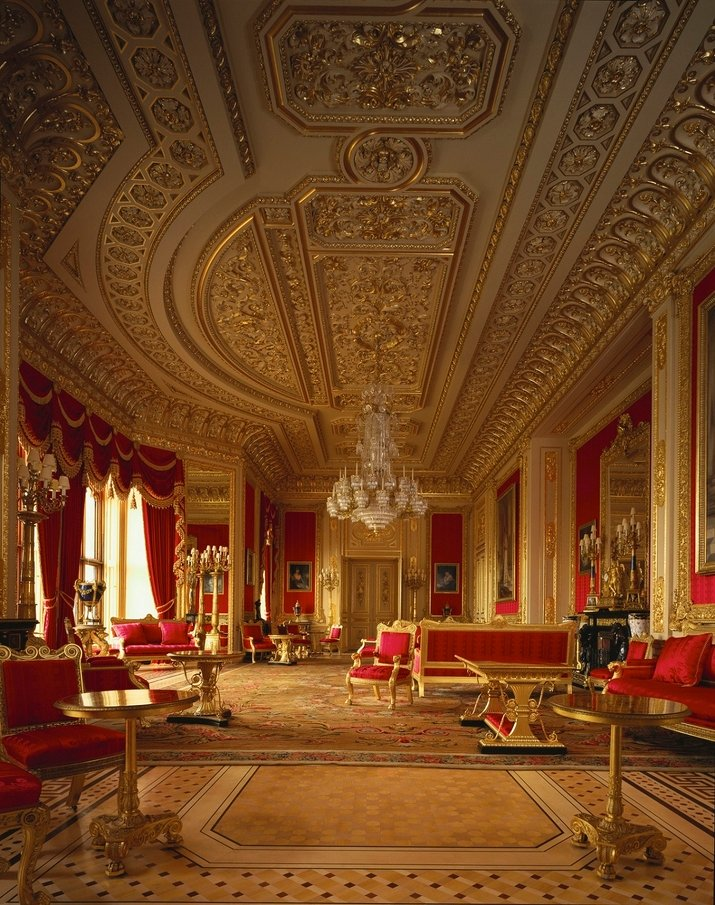 Crimson Drawing Room, Windsor Castle