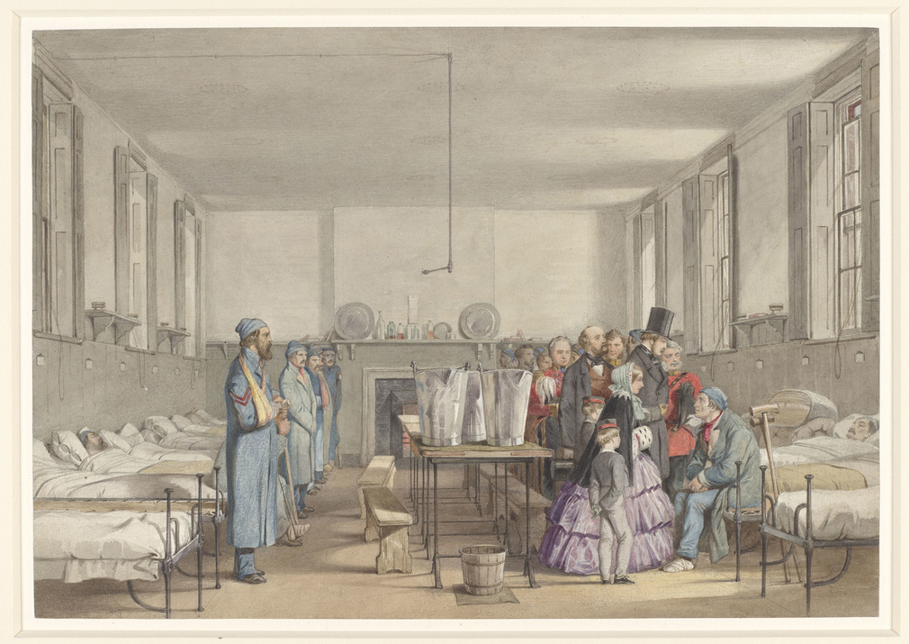 In March 1855 Queen Victoria and Prince Albert, accompanied by the Prince of Wales and Prince Alfred, visited the military hospital at Fort Pitt, Chatham. They met some of the 450 soldiers who had returned there from the Crimea. The Queen later wrote to L