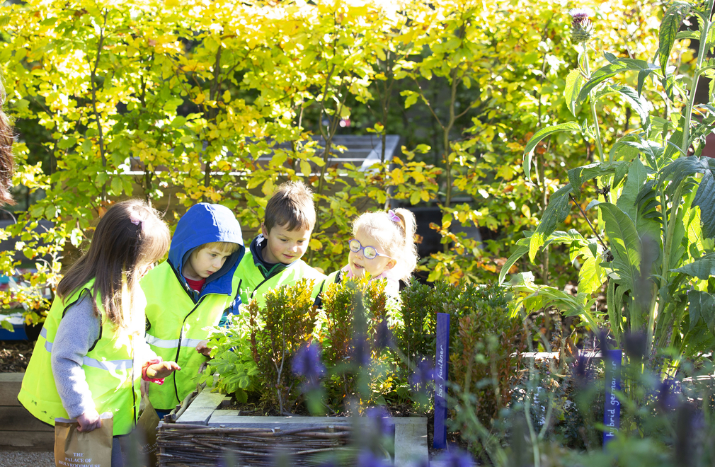 Recent visitors to the new Learning Centre also had a tour of the garden