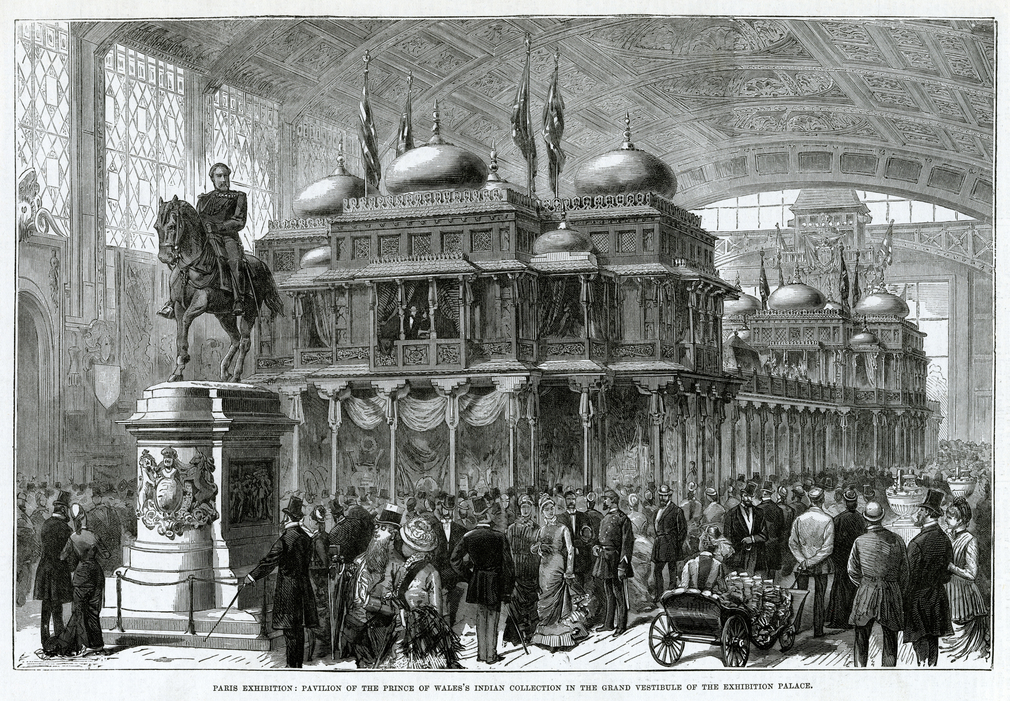 Engraving of an exhibition from a Newspaper