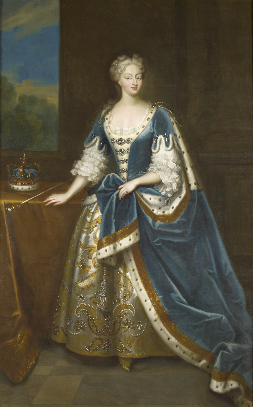 Seeman was an artist of Dutch extraction born in London who worked for George II and Frederick, Prince of Wales, but whose output is represented in the Royal Collection by versions of just two images – official portraits of George II and Queen Carol