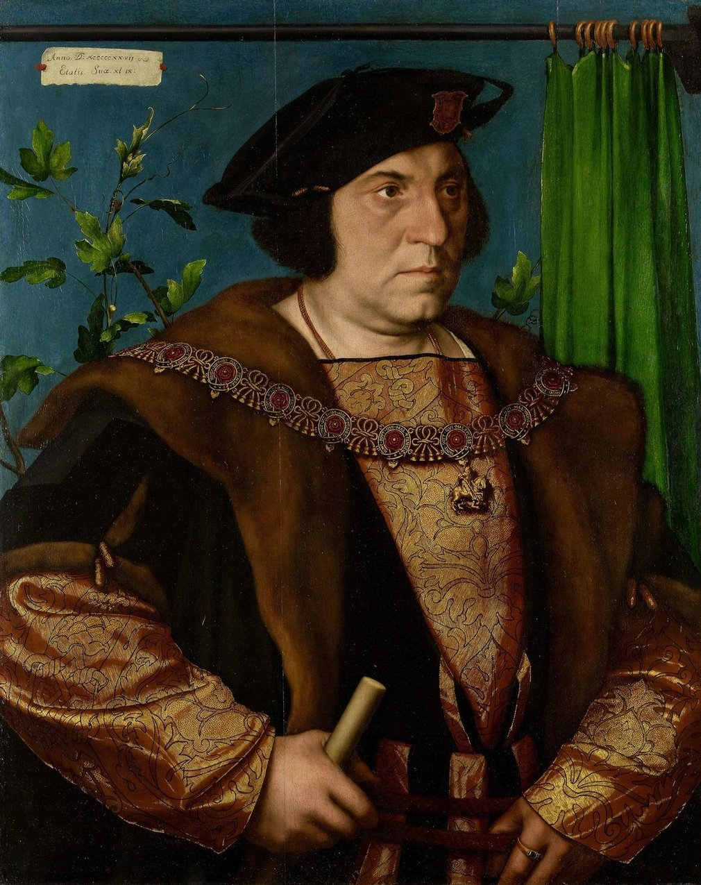 Hans Holbein the Younger was born in Augsburg where he was trained by his father, Hans Holbein the Elder. He became a member of the painter's guild at Basel in 1519. He visited France in 1524 and first visited London in 1526-8. He returned to England in 1