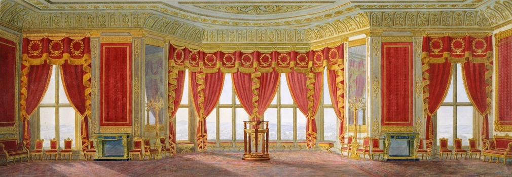The partnership between Nicholas Morel and George Seddon was formed in 1827 to supply furniture and upholstery for George IV's new Private Apartments on the east and south sides of the Upper Ward of the castle. These newly created rooms were intended to r