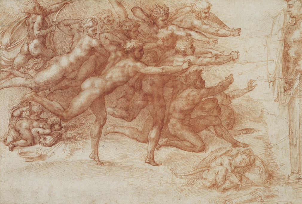 The handful of 'presentation drawings' that Michelangelo produced during the latter half of his life, and especially around 1530, stand at the very pinnacle of European draughtsmanship. Made as gifts for his closest friends, they were painstakingly worked