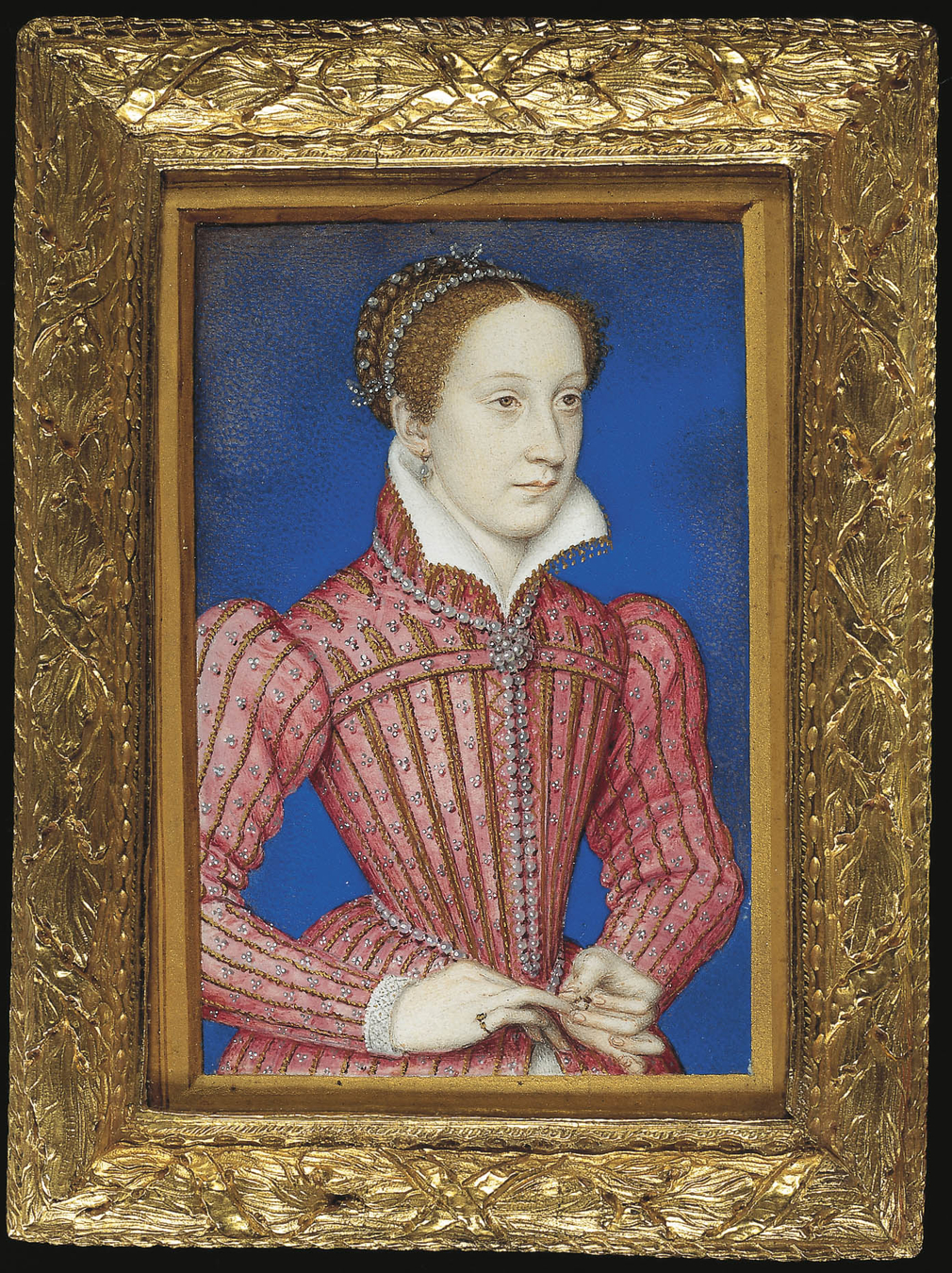 In 1564 Sir James Melville, Ambassador of Mary, Queen of Scots (1542–87), was shown some portrait miniatures belonging to Elizabeth I. The English Queen 'took out the Queen's [Mary, Queen of Scots'] picture, and kissed it'. I