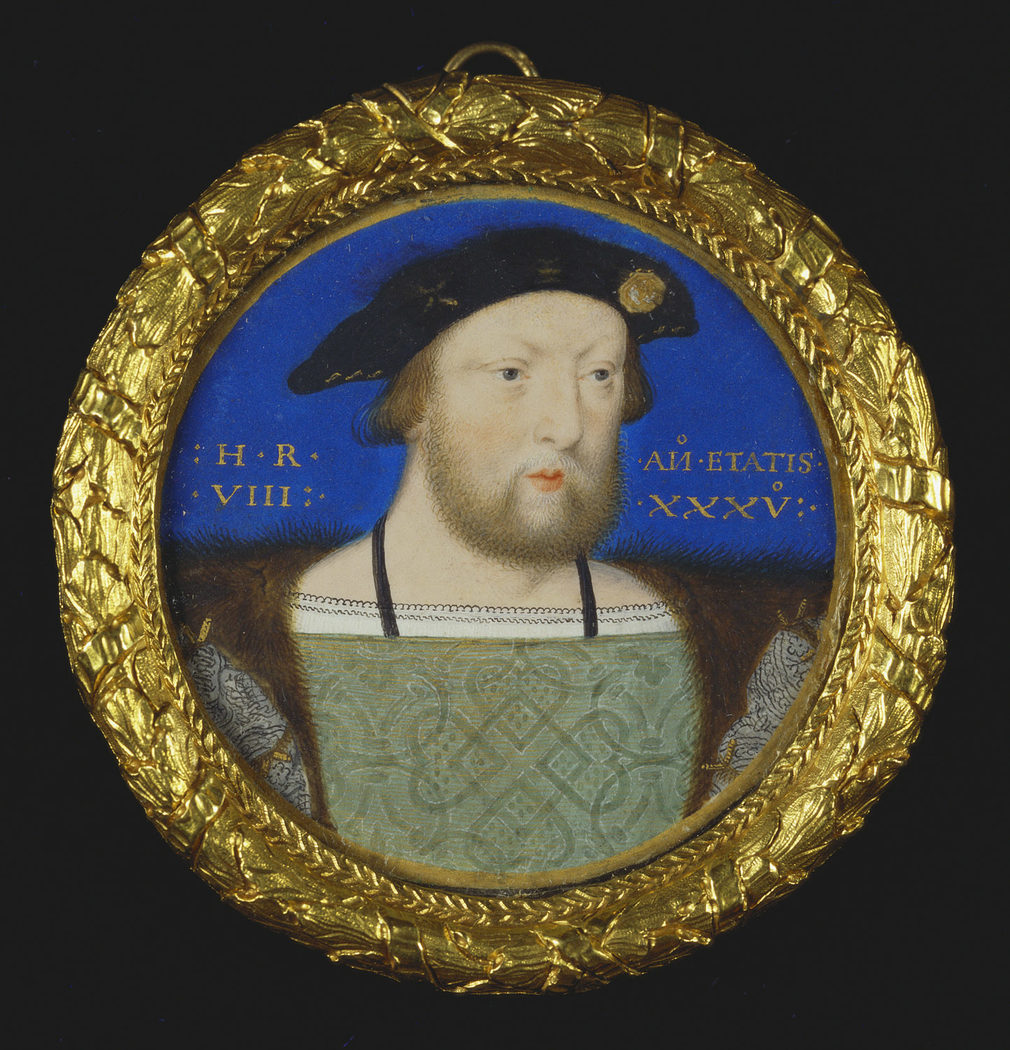 Horenbout's miniature of Henry VIII is one of a group of seven miniatures (also including 420010; Royal Collection) of the king dating from c.1526-7 by this artist which mark the emergence of the miniature from the confines of the illuminated manuscript i