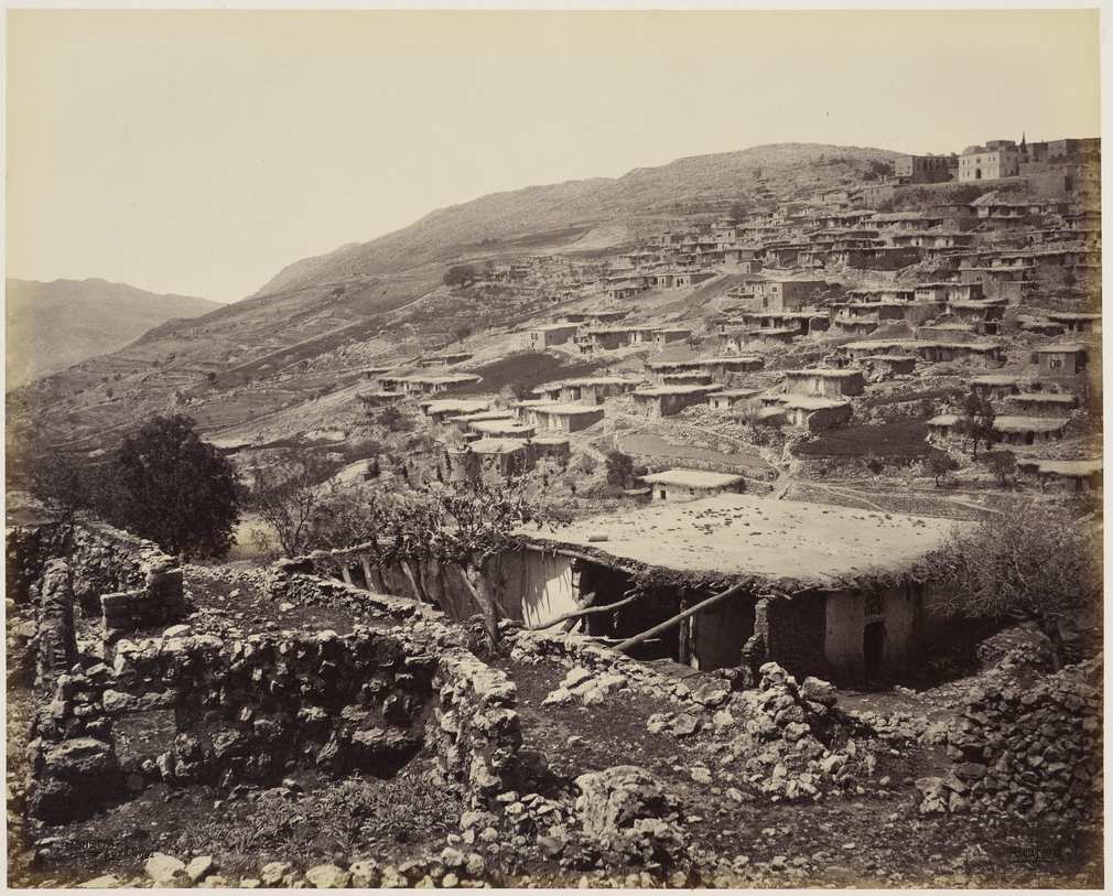 Rashaya, a mostly Druze-inhabited town, was the scene of conflict in June 1860. The Prince wrote: 'In this town, 400 to 500 Christians were massacred and we saw still the remains of the burnt houses.' In July, the conflict spread from this area into Damas