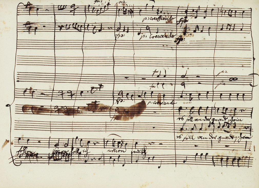 Original autograph manuscript in the hand of Mozart.Wolfgang Amadeus's father Leopold's label on the front of this music manuscript reads 'composto nel Mese di Marzo 1766' - composed in the month of March, 1766. Recent scholars, however,