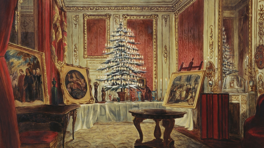 Queen victorias christmas a chandelier christmas tree and william coden the younger queen victorias christmas tree 1851 aloadofball Choice Image