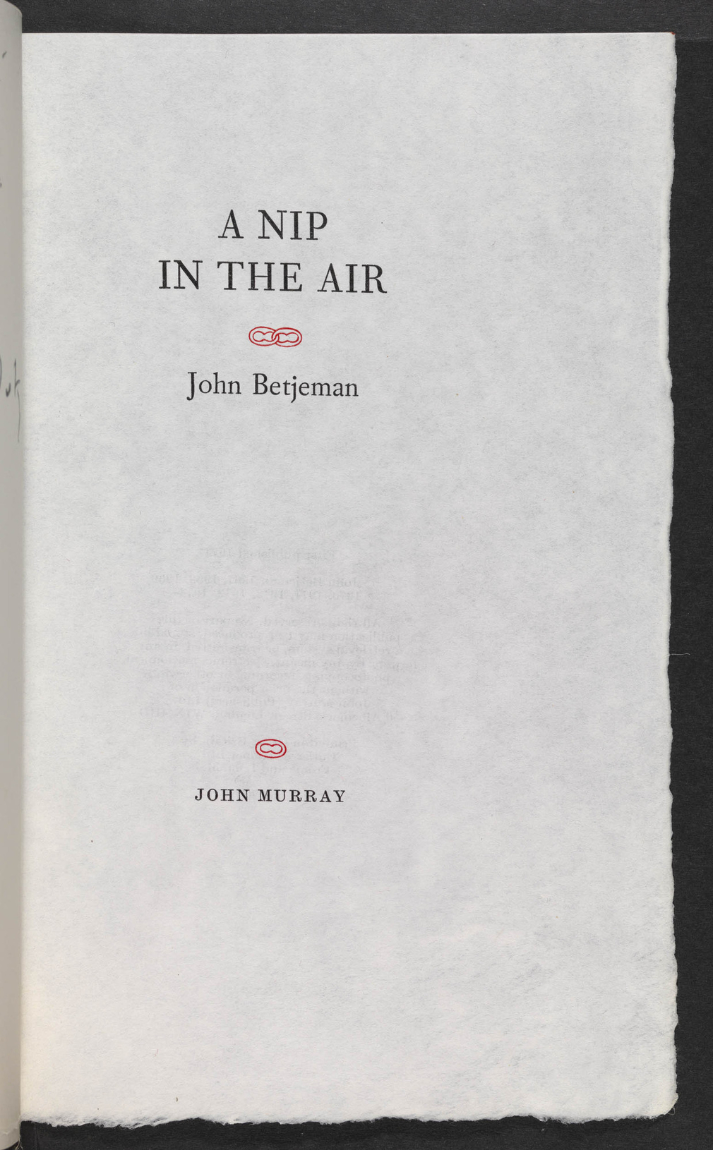 John Betjeman was born and brought up in North London. He began writing poetry at school and continued at Oxford, where he made the acquaintance of the poets W.H. Auden and Louis MacNiece. He developed a strong interest in architecture and was a founder m