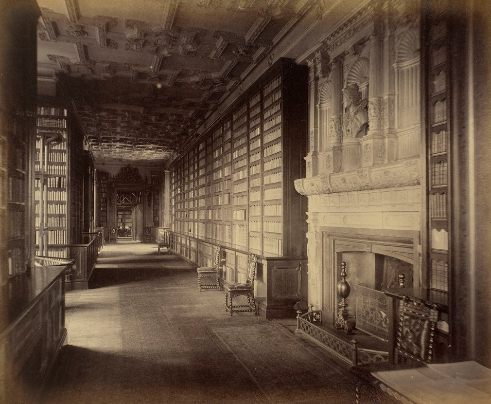 The Library. [Photographs of Windsor Castle 1875-1884]