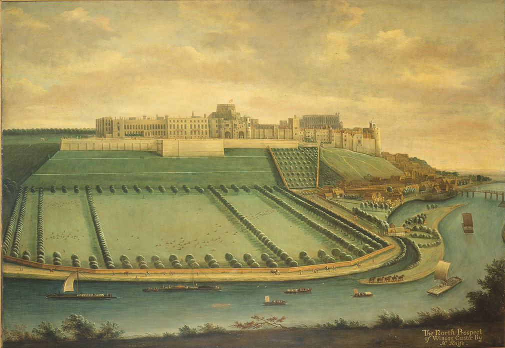 Knyff was born in The Hague and had settled in England by 1681; he specialised in bird's-eye views of English country houses, recording their architecture and agriculture with great attention to detail. In a letter of 9 January 1703 Knyff wrote, 'I ha