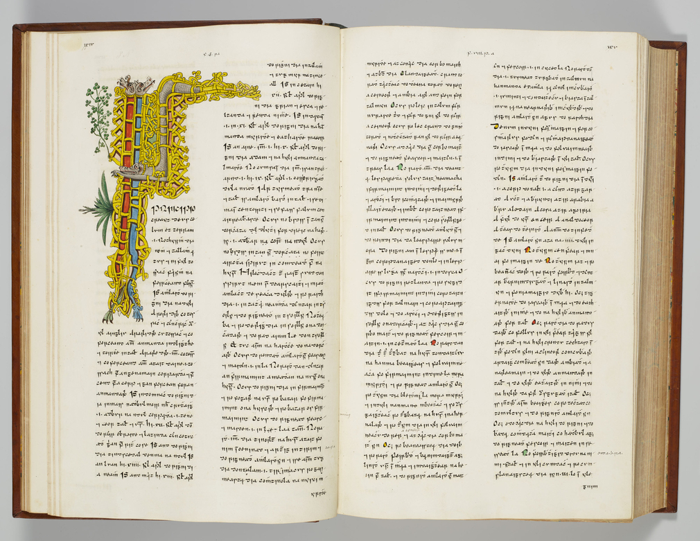 Following his visit to Ireland in 1821, George IV commissioned the Irish scholar Owen Connellan to make copies of two Irish manuscripts for his library. The Book of Ballymote (Leabhar Bhaile an Mhóta) was written in 1390 or 1391 and consists of com