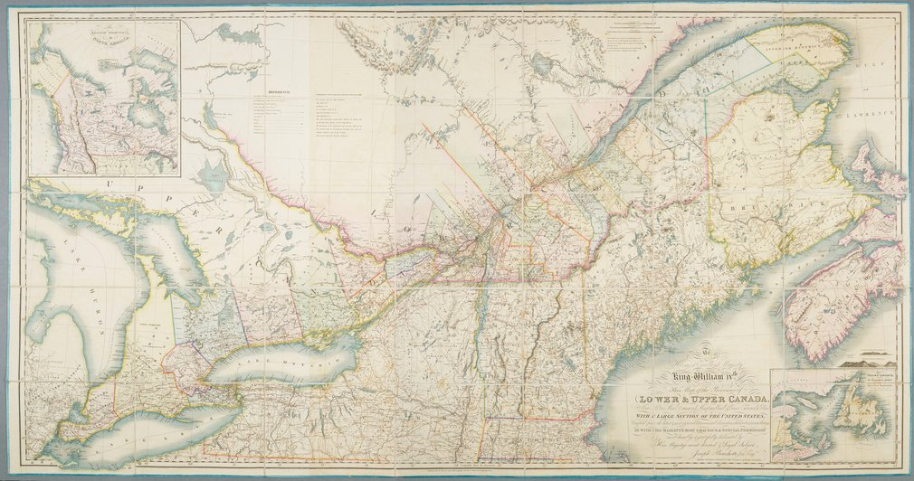 Joseph Bouchette (1774-1841) was a Canadian surveyor who produced many large scale maps of the Canadian Provinces prior to their union in 1841. Born in Quebec, Bouchette qualified as a surveyor in 1792, but initially pursued a career in the militia like h