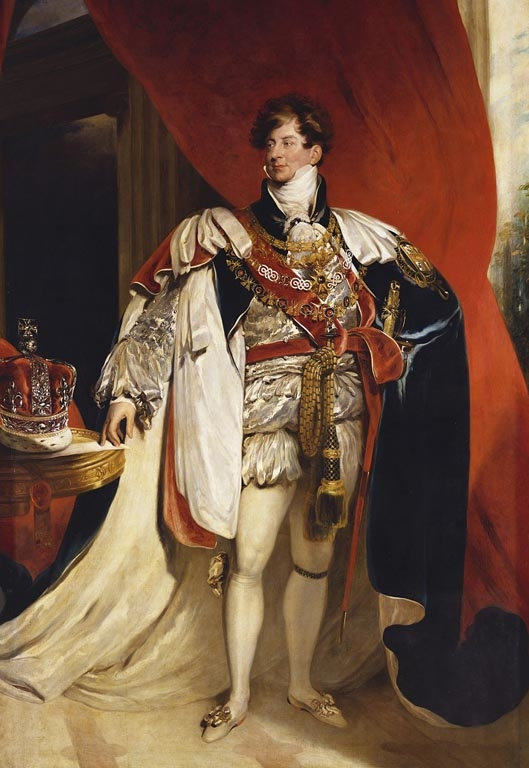This is a version of Lawrence's most replicated portrait of the Prince Regent, painted in 1818 wearing Garter robes and presented by the sitter to the Mansion House in Dublin (now in the Hugh Lane Gallery). This is one of four versions currently in the