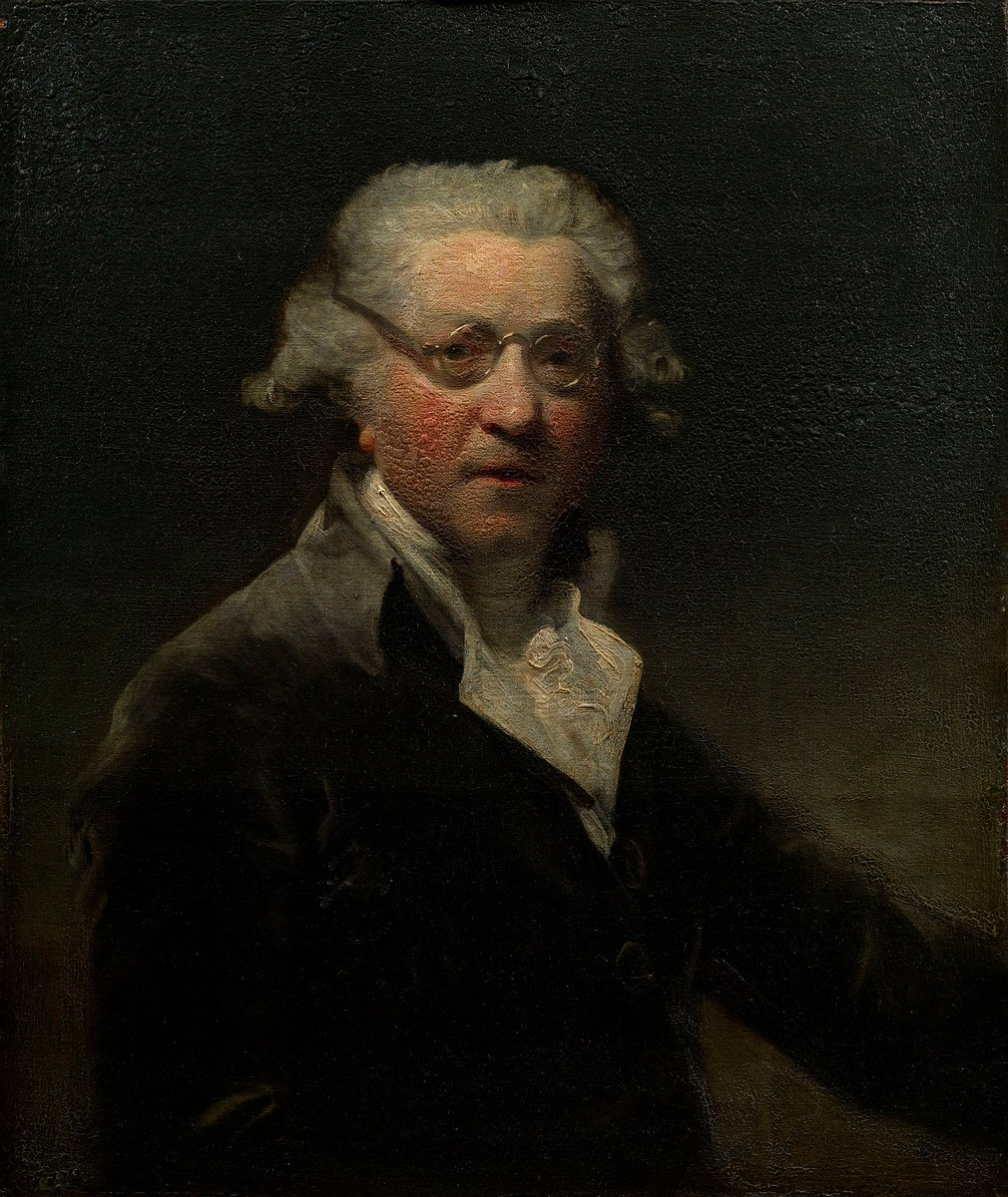 Of the no less than 27 self-portraits Sir Joshua Reynolds painted during his lifetime, this was his penultimate, produced c.1788 when he was about 65. It was a popular work and was frequently copied. This original version was presented to George IV, a gre