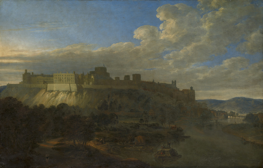 Vorsterman was a Dutch landscape painter, pupil in Utrecht of Herman Saftleven (1609-85), who came to England during the reign of Charles II.   This is one of a pair of views of Windsor Castle (OM 418-9, RCIN 405265 and 406508), which are described as V