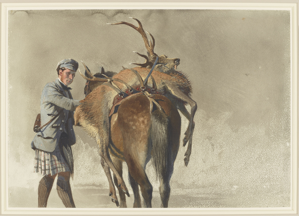 Carl Haag was born in Bavaria and visited London in 1847 and 1848, studying at the Royal Academy Schools. On a sketching trip in the Tyrol in 1852 he met Charles, Prince of Leiningen (Queen Victoria's half-brother) and Ernest II, Duke of Saxe-Coburg