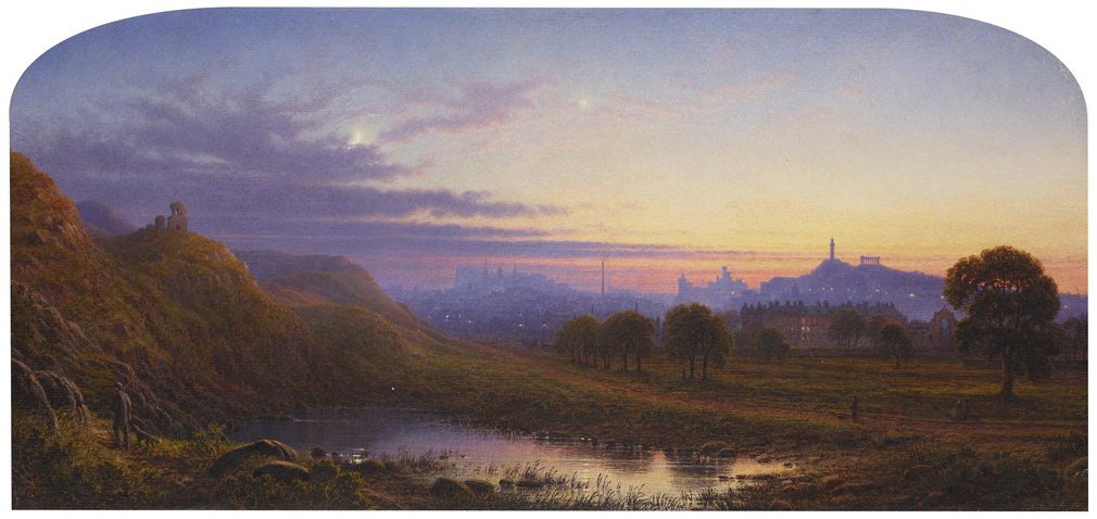 Waller Hugh Paton, Edinburgh with a distant view of the Palace of Holyroodhouse, 1862