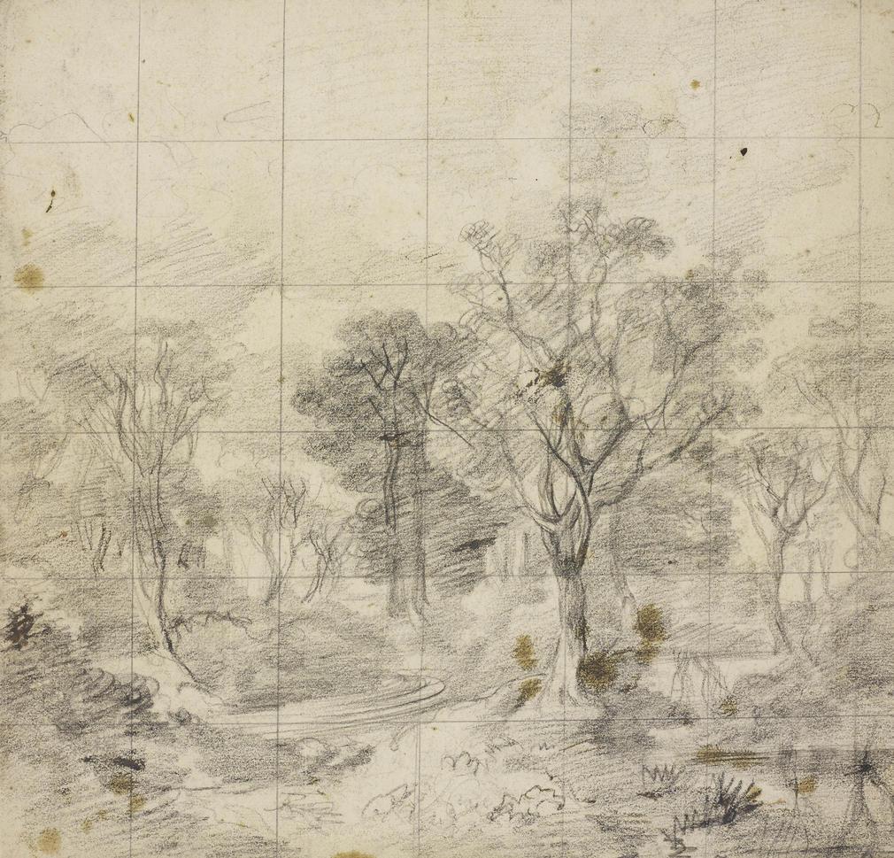 Thomas Gainsborough, Study for Cornard Wood, c.1748