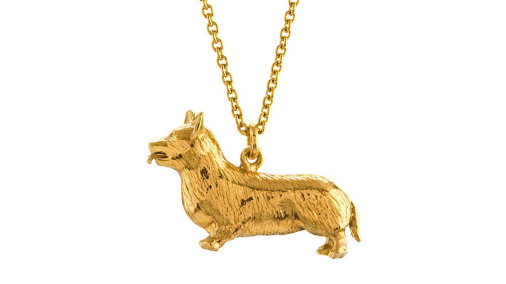 Alex Monroe for Buckingham Palace corgi pendant