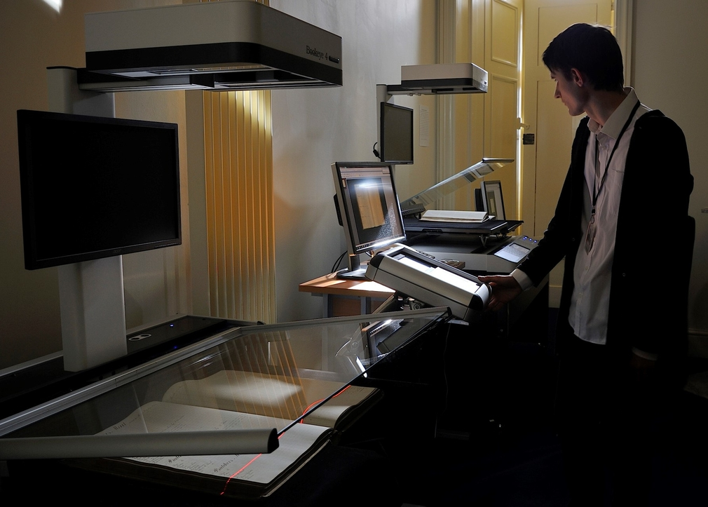 Digitisation Studio in the Royal Archives