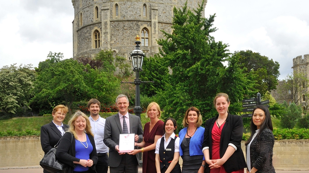 Windsor Castle is presented with an Autism Friendly Award by the National Autistic Society