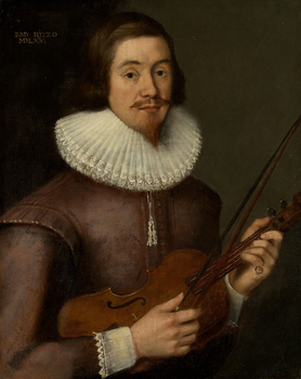 Portrait of David Rizzio holding a violin