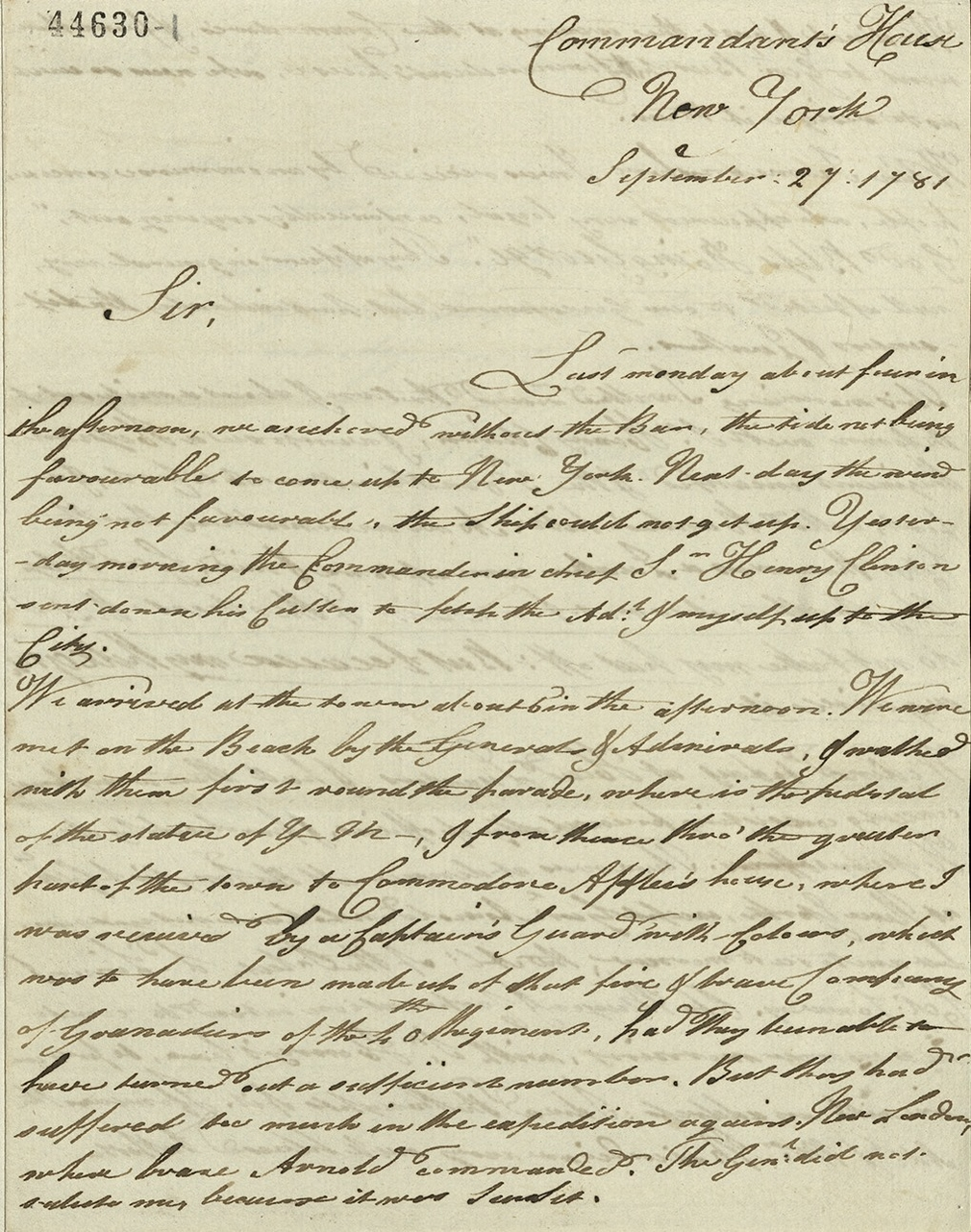 Letter written by William IV to George III